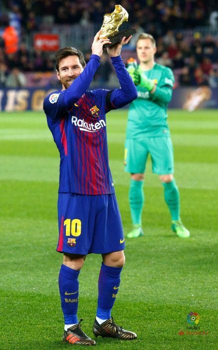 Messi con la bota de oro.