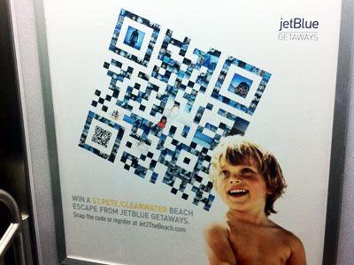 Beispielwerbung: Wie mit QR-Codes in der Werbung gearbeitet wird.