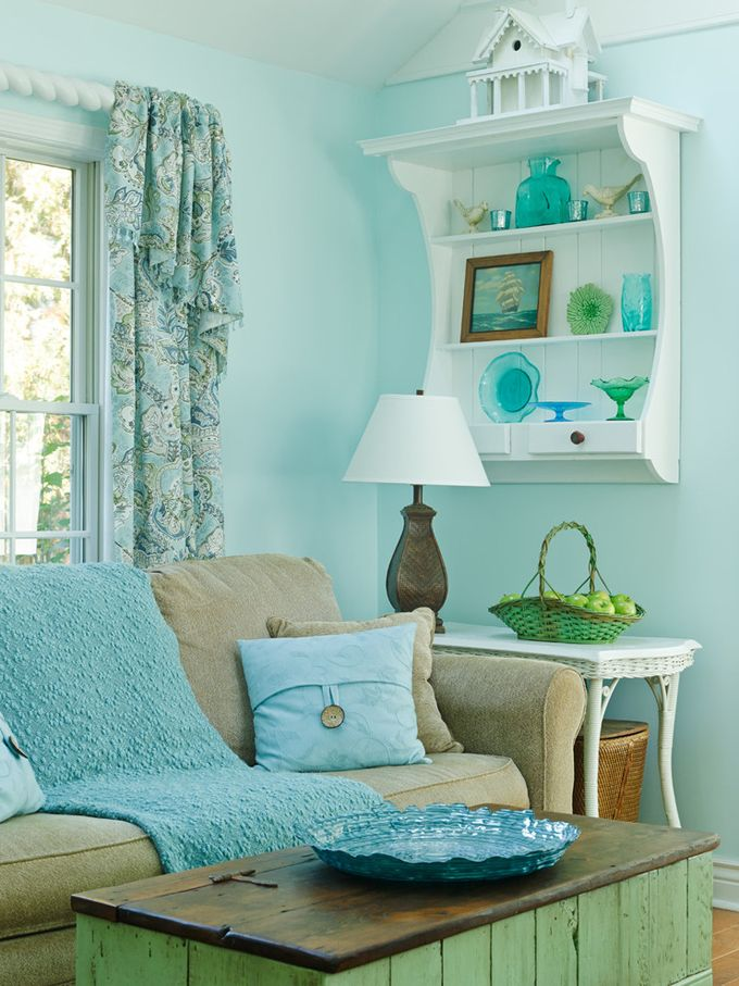 1082 best beach cottage coastal colors images on pinterest for Country cottage living room paint colors