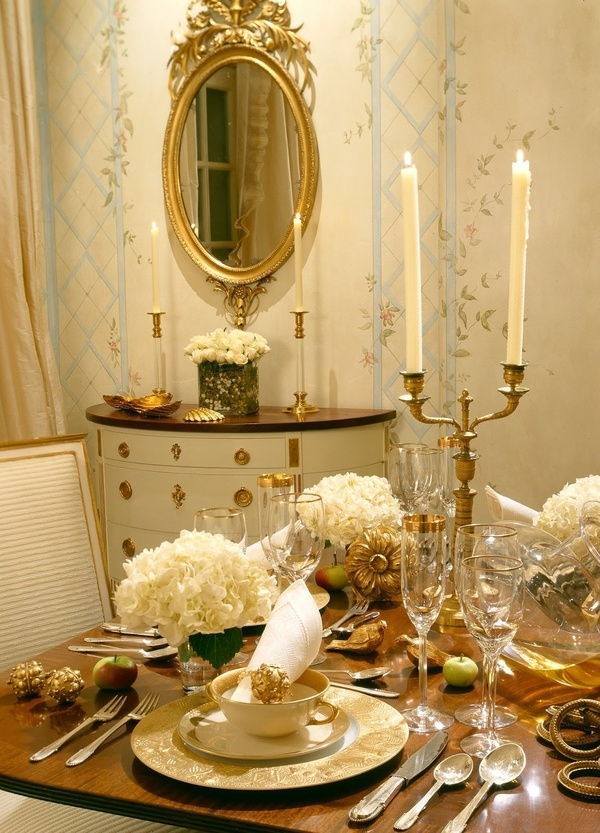 33 Gold Mirror For A Golden Dining Table