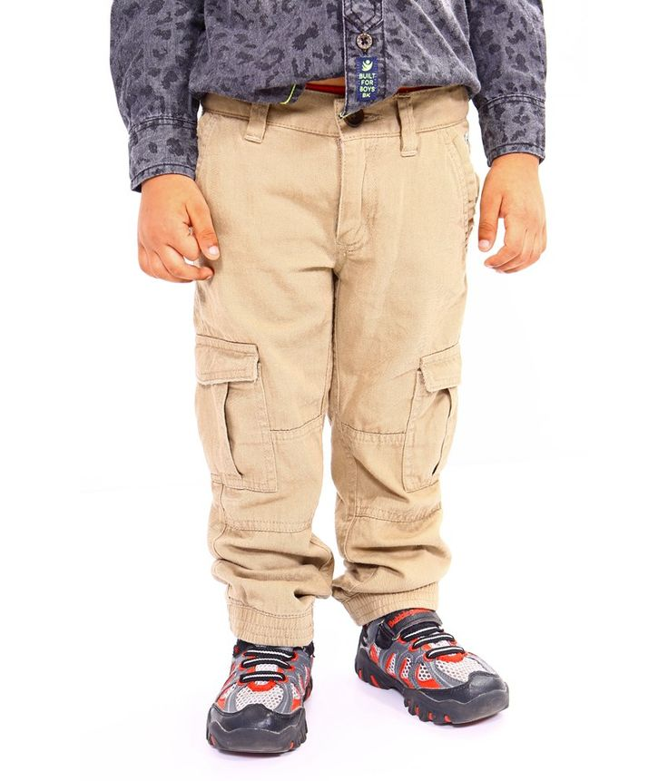 Bio Kid Brown Cotton Regular Fit Cargo - 1 Pc Pack, http://www.snapdeal.com/product/bio-kid-brown-cotton-regular/1888108969