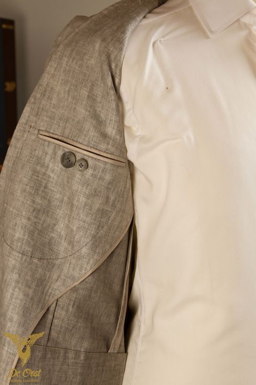 Unlined Jacket Lining Detail