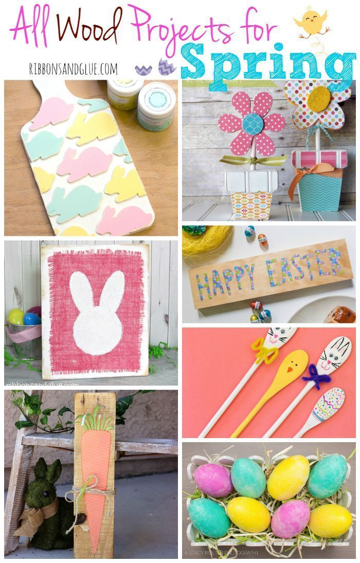 Roundup Of All Wood Craft Projects For Spring To Help Inspire You To