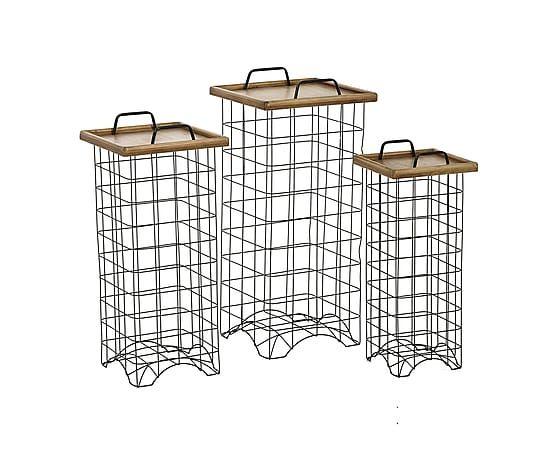 Набор из 3 столов ARTHUR - массив пихты - коричневый
