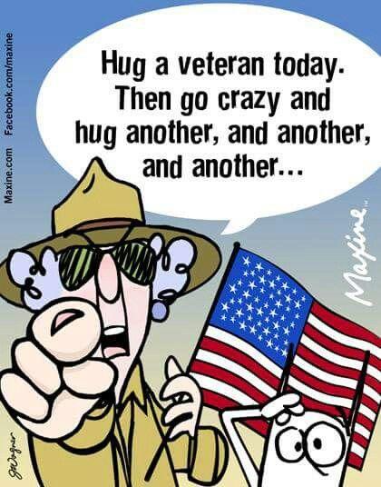 Hug a veteran! (( ))