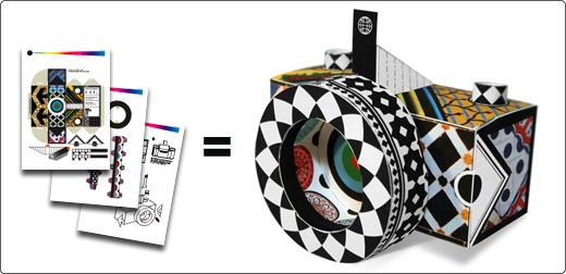 Download, print and build your own pinhole camera. WoW!
