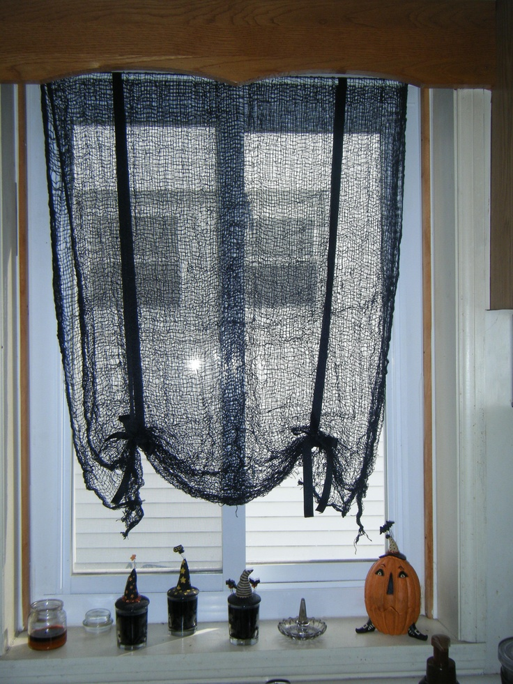 Make your own tie up curtains for