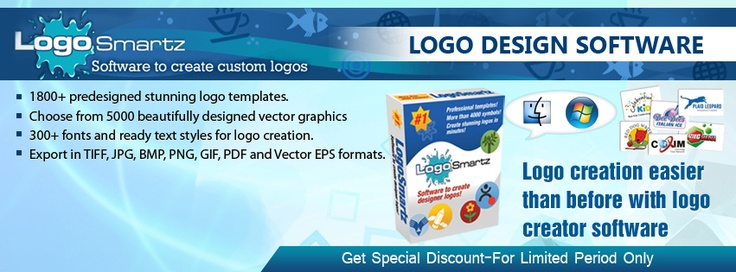 Logosmartz offering special discount for all users. Repin and Like to get your disocunt code. Limited Period Offer.