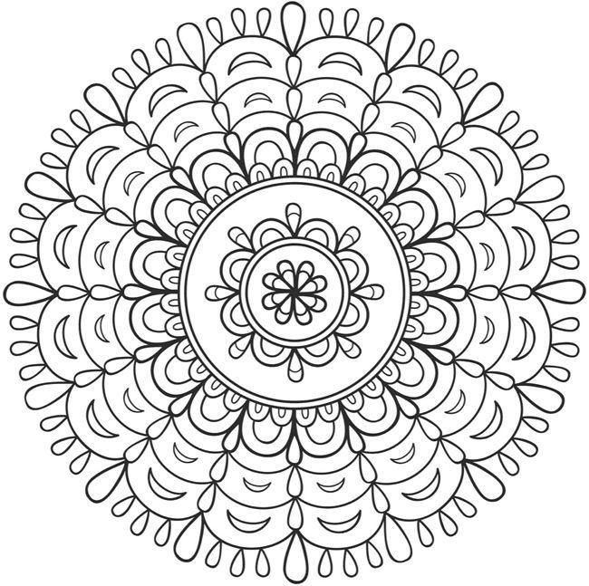 Mandala 676, Creative Haven Spark Mandalas Coloring Book, Dover Publications