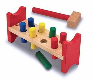 Pound-a-Peg Classic Toy: Wooden Benches, Wooden Peg, Poundapeg, Wooden Toys, Bangs Bangs, Pound A Peg, Melissa And Doug, Melissa D'Arabian, Kid