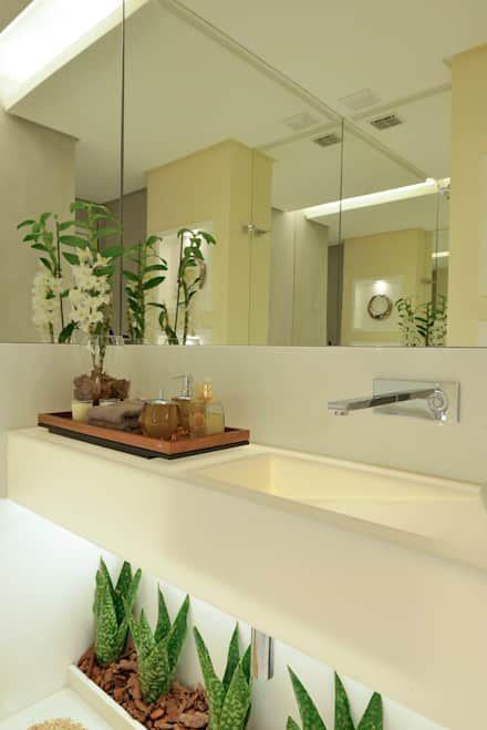 APARTAMENTO PK: Banheiros ecléticos por Bastos & Duarte
