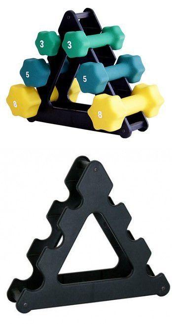 Neoprene Dumbbell Set- 3, 5, 8 LB w/ Rack