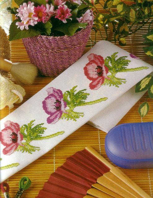 ♥Meus Gráficos De Ponto Cruz♥: Barrados Florais em Ponto Cruz
