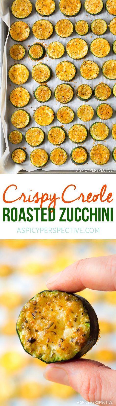 Crispy Creole Roasted Zucchini Recipe  #lowcarb  via @spicyperspectiv