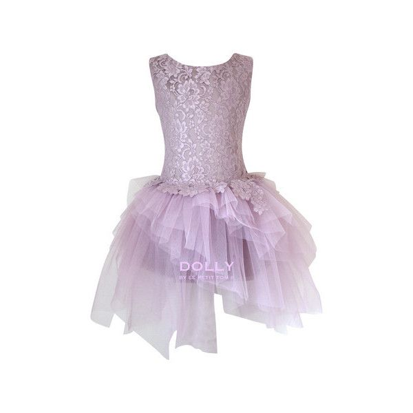 DOLLY by Le Petit Tom the ARABESQUE DRESS mauve ($190) ❤ liked on Polyvore featuring dresses, petite cocktail dress, purple dresses, purple lace cocktail dress, petite lace dress and purple lace dresses