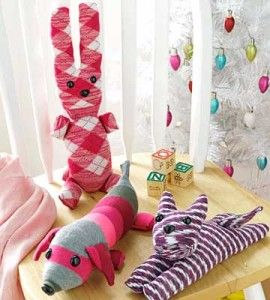 The snuggly little stuffed animals all start with a boldly patterned sock! And they're sure to please most any kid on your gift list, from preschoolers to teens.