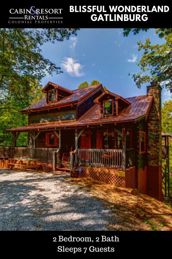 Blissful wonderland gatlinburg cabins cabin vacation