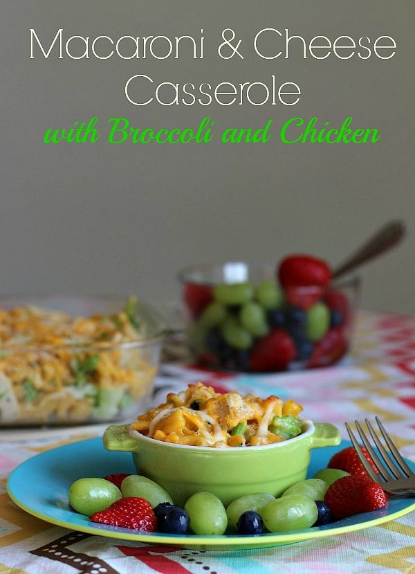 This Quick And Easy Macaroni Cheese Casserole Made With Kraft Macaroni Cheese Has Chicken