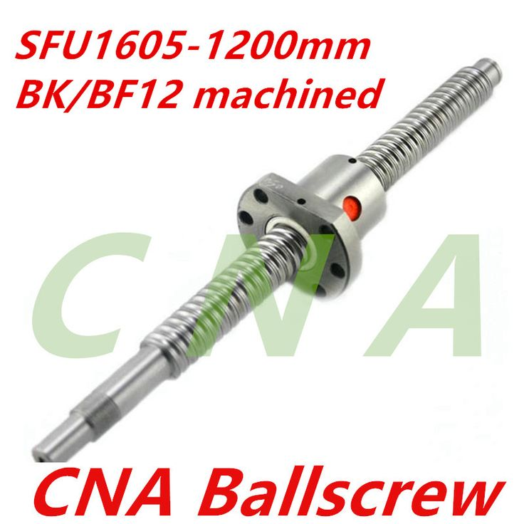 SFU1605 1200mm <b>rolled ball screw</b> C7 grade with 1605 flange ...