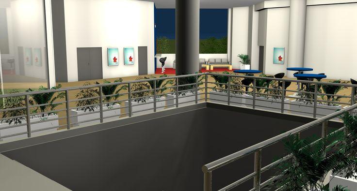 vizualizácia - pohľad od schodov