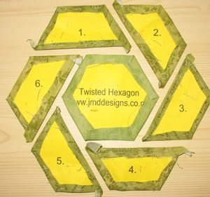 how to cut a 6 1 2 inch hexagon template
