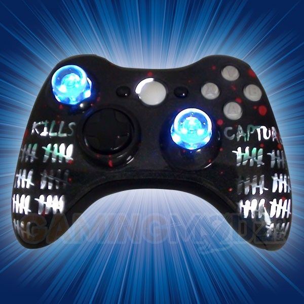 This Is Our Kill Streak Modded Xbox 360 Controller We Have Released Our Extreme Edition Series Of Modded Xbox 360 Con Video Game Jobs Custom Xbox Xbox Console