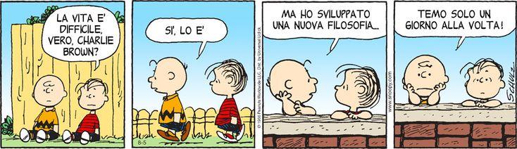 Temo un giorno alla volta. #peanuts