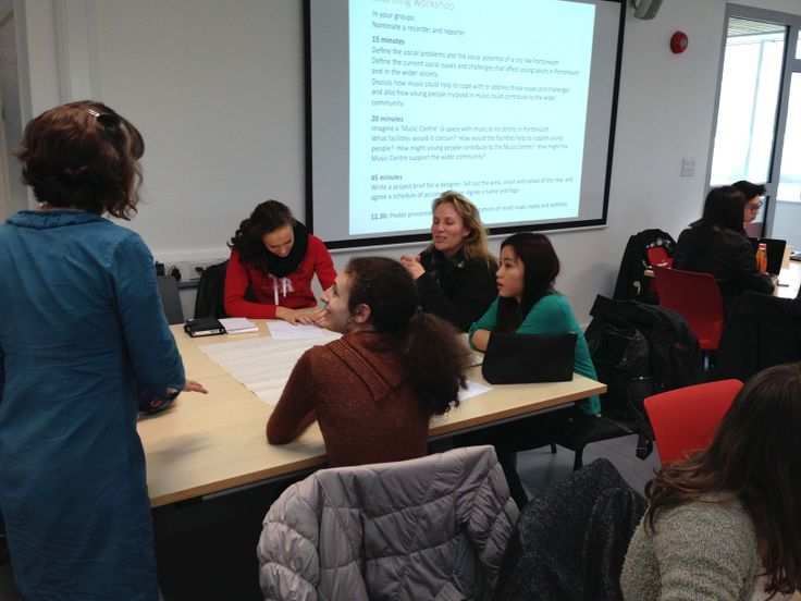 Izabela Ivanova AS Architecture Student Portsmouth College Discussing Ideas With Rachael Brown University Of Workshop
