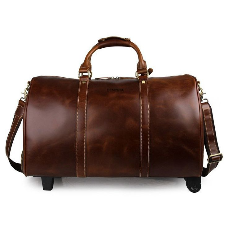 Vacation or weekend getaway in style? With our amazing Full Grain Leather Travel Trolley Bag you'll catch some eyes even in the Ritz...