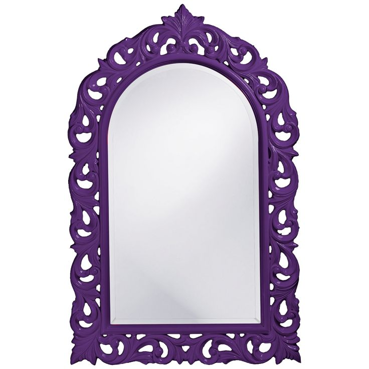 "Howard Elliott Orleans 30"" X 47"" Purple Wall Mirror - Style # 5G921"