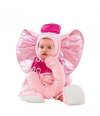 Ελέφαντας στολή για μωρά Jumbo ροζ ελεφαντάκι