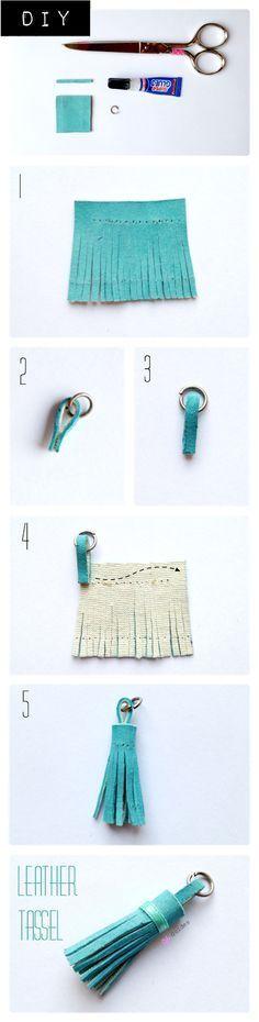 tutorial DIY borla de cuero