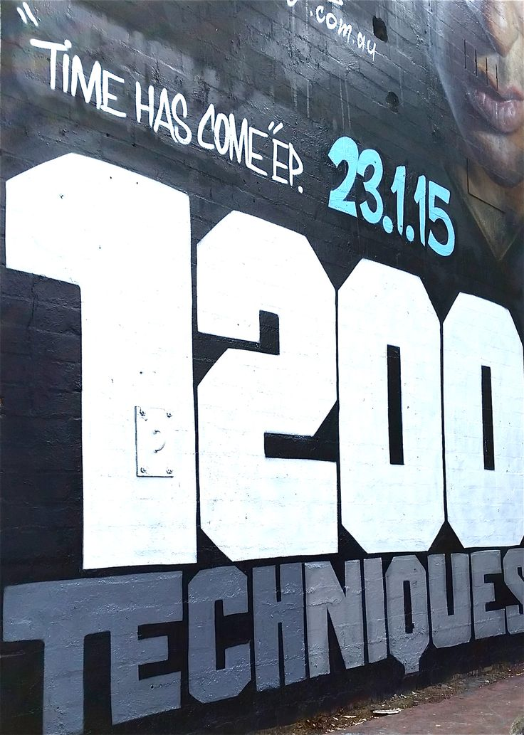 1200 Techniques  Time Has Come Ep Art Letter's by Peril Characters by Adnate www.1200techniques.com.au