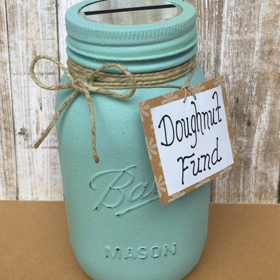 Donation Jar Collect Donations Office by NewRetroCottage on Etsy