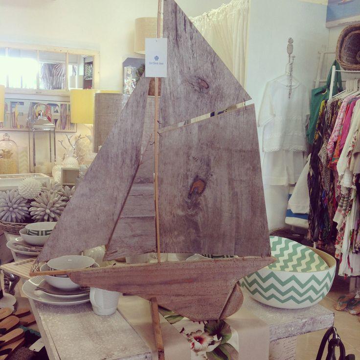Driftwood boat $180
