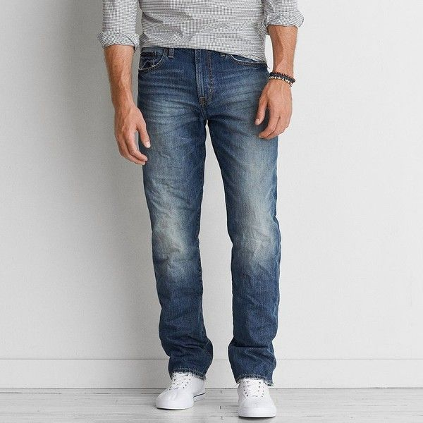 d5d3758a22eea Relaxed Straight Jean ( 26) ❤ liked on Polyvore featuring men s fashion