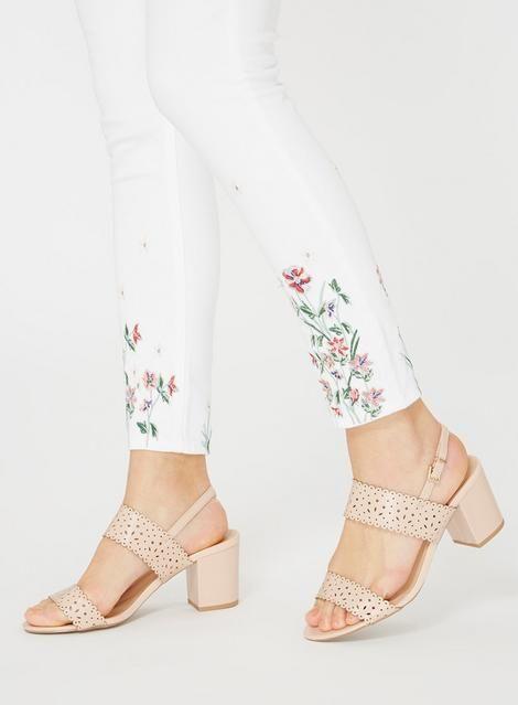 7a36bdc8bce Wide Fit Pink  Sugar  Heeled Sandals - Block Heels - Shoes - Dorothy Perkins