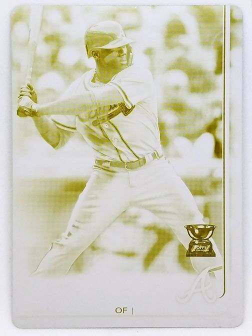 1/1 RONALD ACUNA JR ROOKIE PRINTING PLATE (YELLOW) 2019 TOPPS #1 BRAVES ROY!!