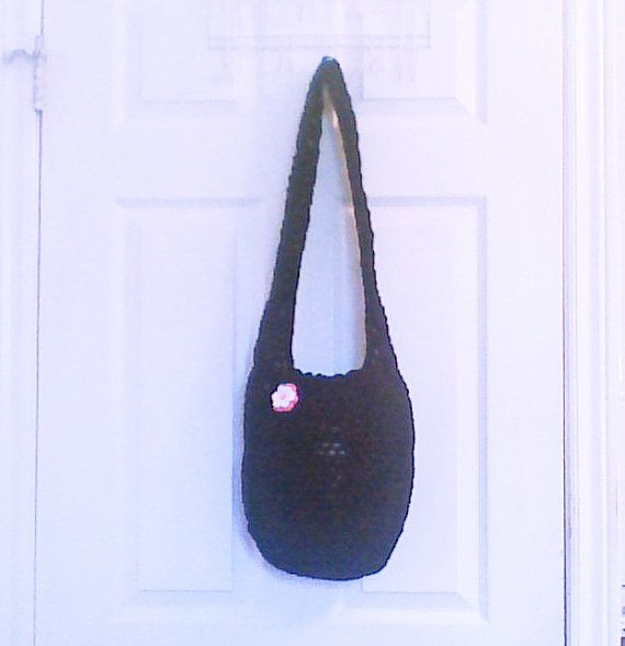 Hey, I found this really awesome Etsy listing at https://www.etsy.com/listing/184222883/black-crochet-slouch-bag-with-shoulder