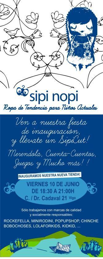 Invitación SIPI NOPI Tienda Infaltil