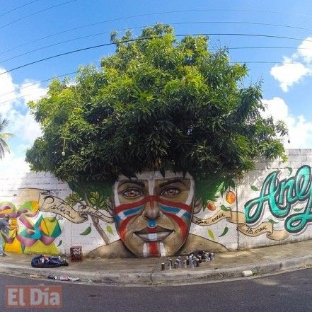 Afro Taino by Gabriel Abreu in San Cristobal, Dominican Republic #lArts ╰☆╮ #ProvenAsTheBest ╰☆╮ **Like**Pin**Share** ♥ FoLL0W mE @ www.provenasthebest.com ♥