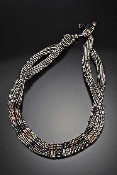 Necklace | Timbuktu by Julie Powell  (Ndebele, but cd interpret via bead crochet...)