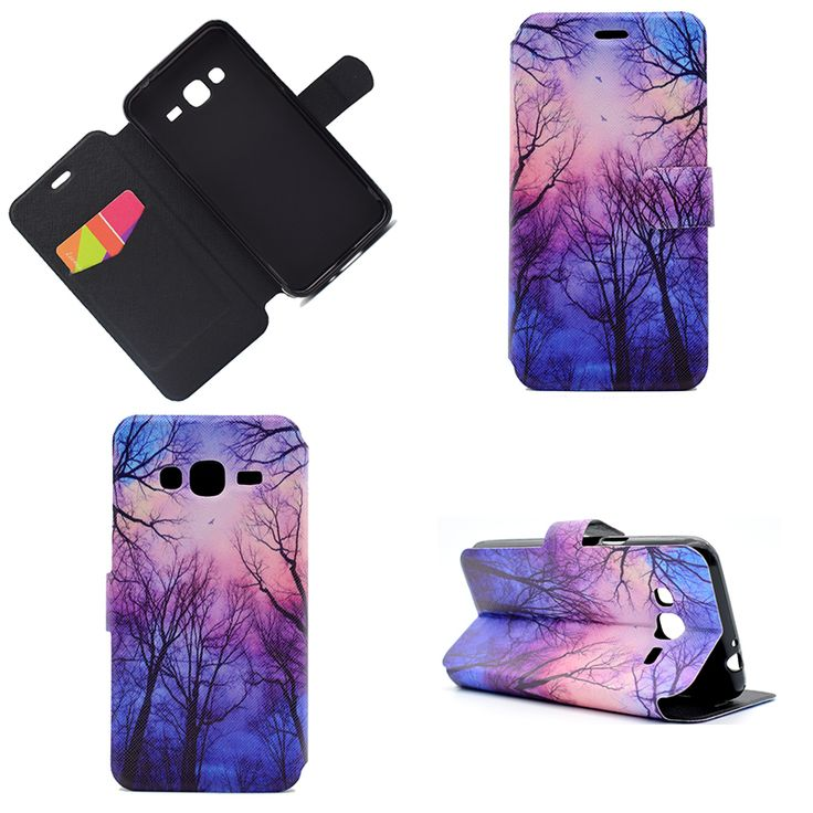 Cartoon flower PU leather cases For Samsung galaxy J3 2016 case wallet cover for samsung J3 2016 case coque etui kryty Pouzdra