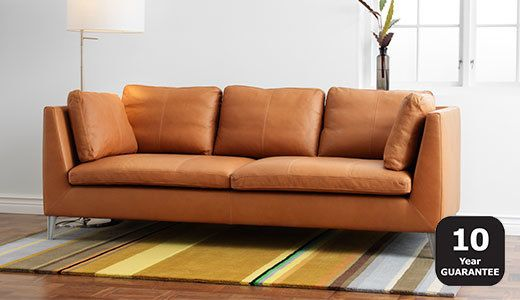 Sofa ikea leder  Eingängige IKEA Leder Sofa | Sofas | Pinterest