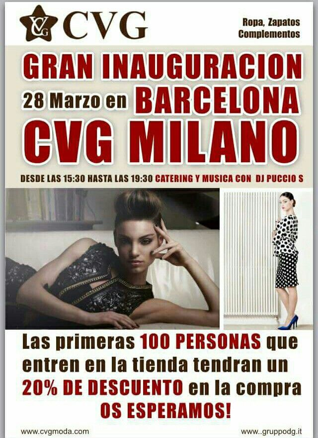 Inaugurazione a Barcellona il 28 Marzo