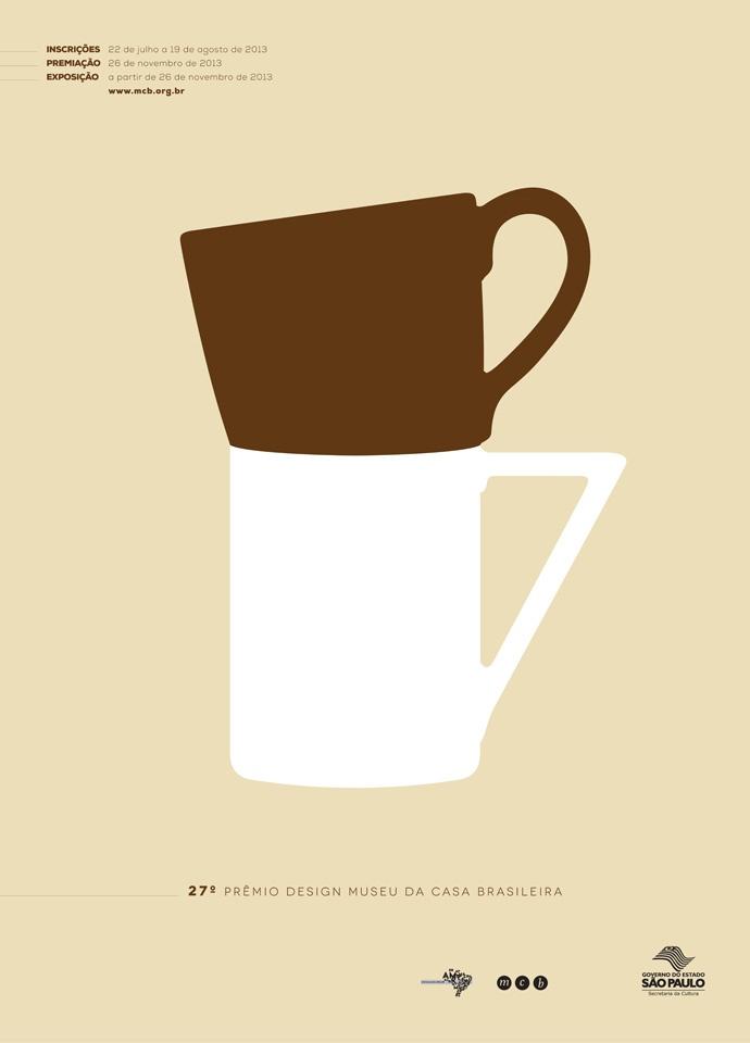 Coffee with milk. Poster Contest finalist at the 27º Prêmio Design Museu da Casa Brasileira.