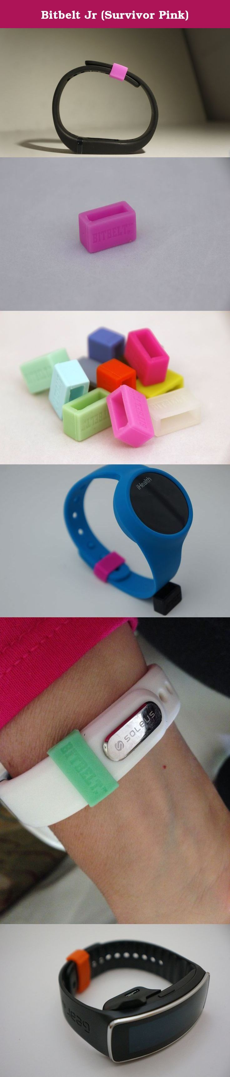 Bitbelt Jr (Survivor Pink). BITBELT JR CREATED TO PROTECT YOUR THINNER WIDTH WRIST WORN FITNESS TRACKER AND CHILD SIZE MAGIC BAND. DONT RELY ON A SMALL PLASTIC CLIP TO SECURE YOUR INVESTMENT TO HEALTH OR YOUR VACATION.WE ARE THE CHEAPEST INSURANCE AVAILABLE. Your bracelet will come unclasped. We are the cheapest insurance available to keep yours from being lost.