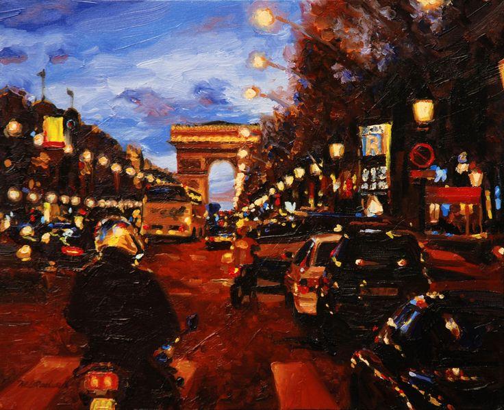 Arc de Triomphe, Paris 16 x 20 in oil