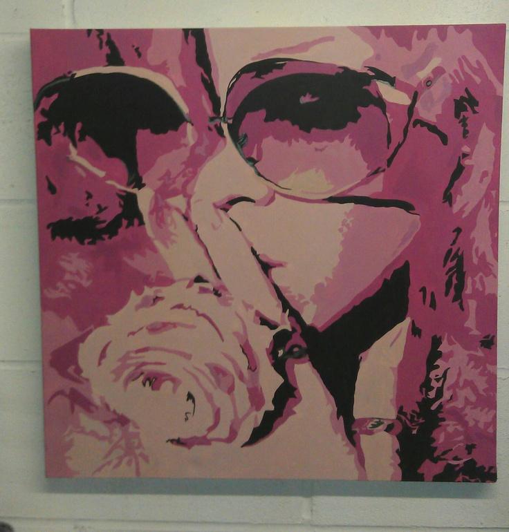 Rhi Rhi. Original, Handpainted canvas by artist Charlotte-Louise. SOLD £85
