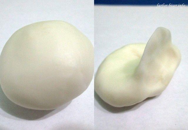 Получилась полимерная глина домашнего производства :)